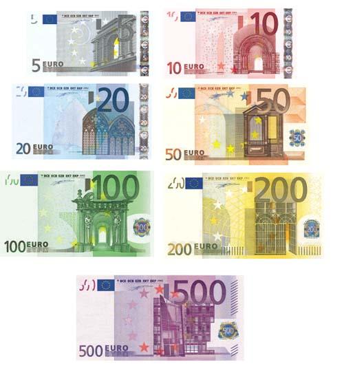 billetes de euro cambio euro dolar. Black Bedroom Furniture Sets. Home Design Ideas