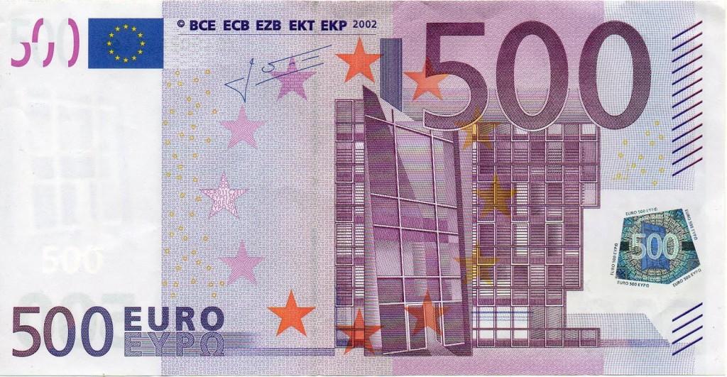 billete 500 euros