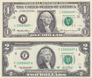 billetes de dólares hermano hermana