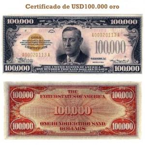 Billete 100 mil dolares