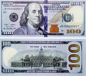 nuevo billete de 100 dólares